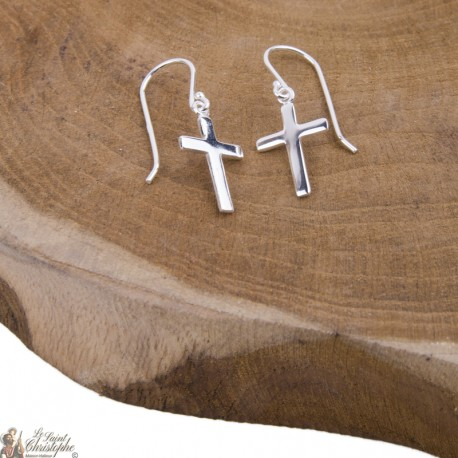 Earrings Cross  - Silver 925