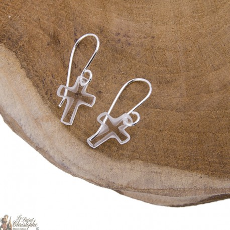Swarovski Cross Earrings - Silver 925