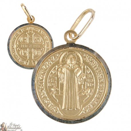 Médaille Saint Benoît Or 18K