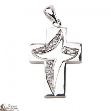 Stylized Cross Pendant - Sterling Silver