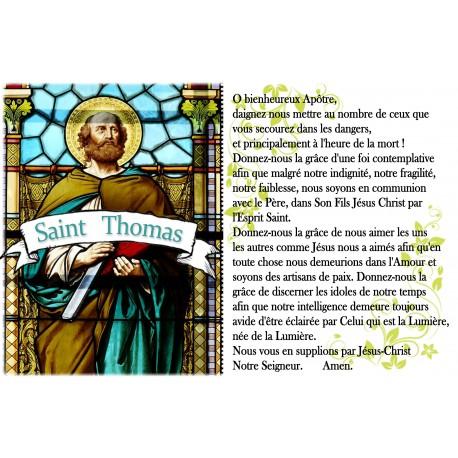 Autocollant bougie de neuvaine avec prière français  - Saint Mathieu