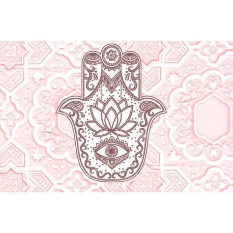 decorative sticker  - novena candle - Fatma's hand