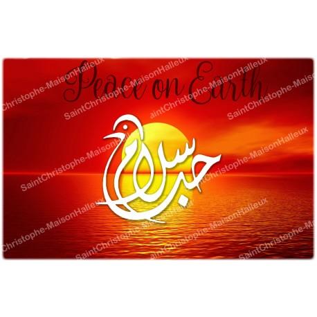 decorative sticker  - novena candle - Zen symbol