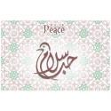 decorative sticker  - novena candle - peace arabic model 2