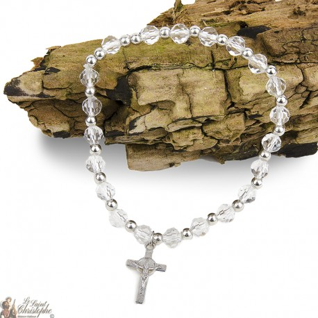 Bracelet pearls natural Crosses St Benedict