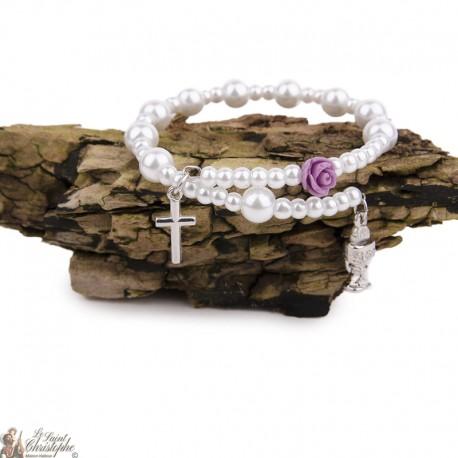 Bracelet perles nacrées - Calice