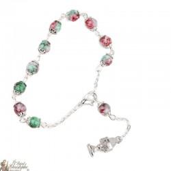 Bracelet perles multicolores - Calice