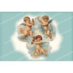 decorative sticker  - novena candle - Angel model 4