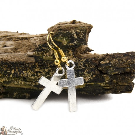 Earrings - Cross - Pendant