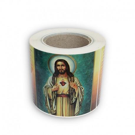 Autocollants en rouleau avec votre image et prière 500 pcs