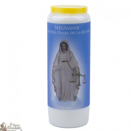 Bougies Neuvaines à Notre Dame de Justice - prière français