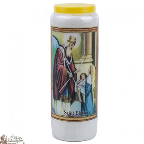Bougies Neuvaines à Saint Blaise- prière français