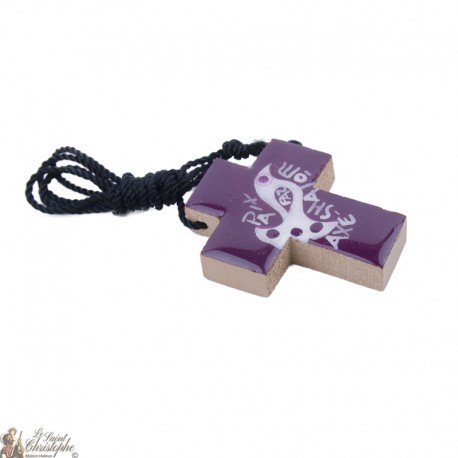Pendentif croix du mexique en bois