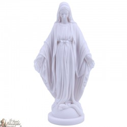 Statue de la Vierge Miraculeuse en Albatre - 17.50 cm