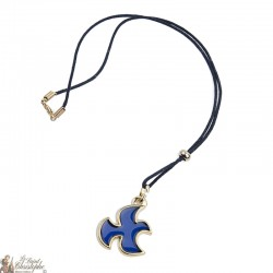 Necklace with blue dove