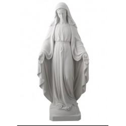 Statue de la Vierge Miraculeuse en Albatre -  23 cm