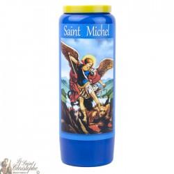 Bougies Neuvaines bleues à Saint Michel  - prière français