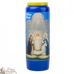 Bougies Neuvaines bleues à la Sainte famille  - prière français