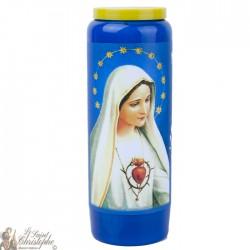 Bougies Neuvaines bleues à Notre Dame de Fatima  - prière français