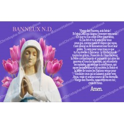 sticker with french  prayer - Our Lady from Banneux - 2