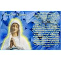 sticker with french  prayer - Our Lady of Banneux
