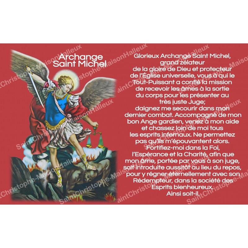 sticker with french prayer - Saint Michael - Maison Halleux Pro