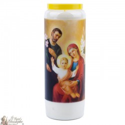 Candles Novenas to Holy Family - english Prayer