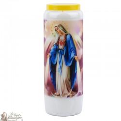 Bougies Neuvaines à la vierge miraculeuse - prière Anglais