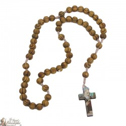 Rosario de madera de olivo de San Benito