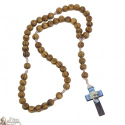 Padre Pio olive wood rosary