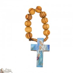 Olive wood rosary to Our Lady of Lourdes