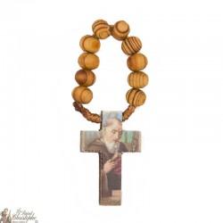Rosary Olive wood Saint Benedict