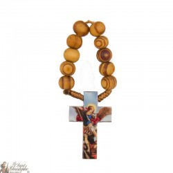 Olive wood rosary to St. Michael