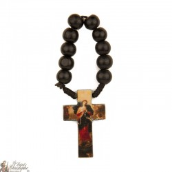 Rosary black wood Mary defeated nodes