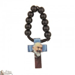 Black wood rosary of Padre Pio