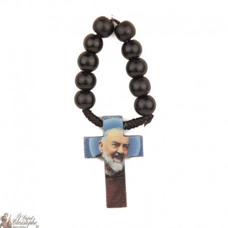 Black wood rosary of Padre Pio