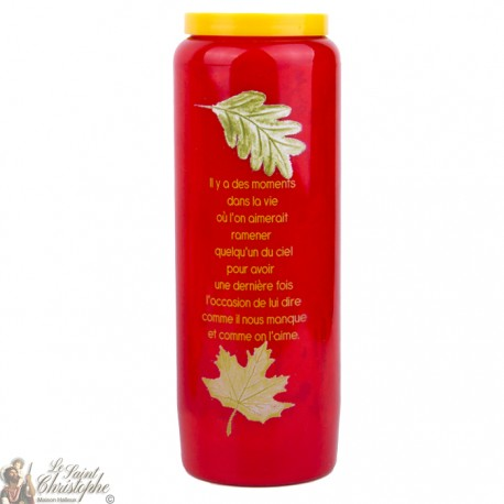 Novenas red candles to person lost French text -1-