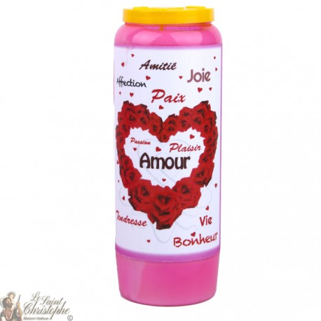 Pink Candles Novenas to Saint Valentine  - French Prayer