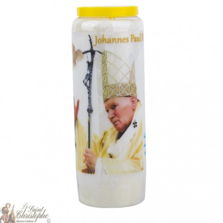 Bougies Neuvaines à Jean Paul II - prière allemand