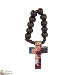 Olive wood rosary to Saint Antony