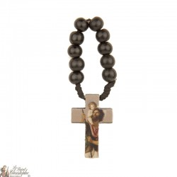 Olive wood rosary to Saint 	Christopher